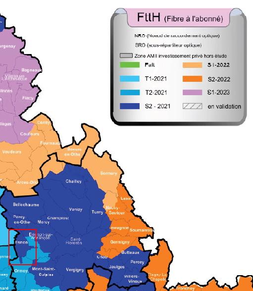 Carte prévisionnelle de déploiement